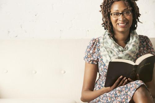 AA Woman Reading Bible