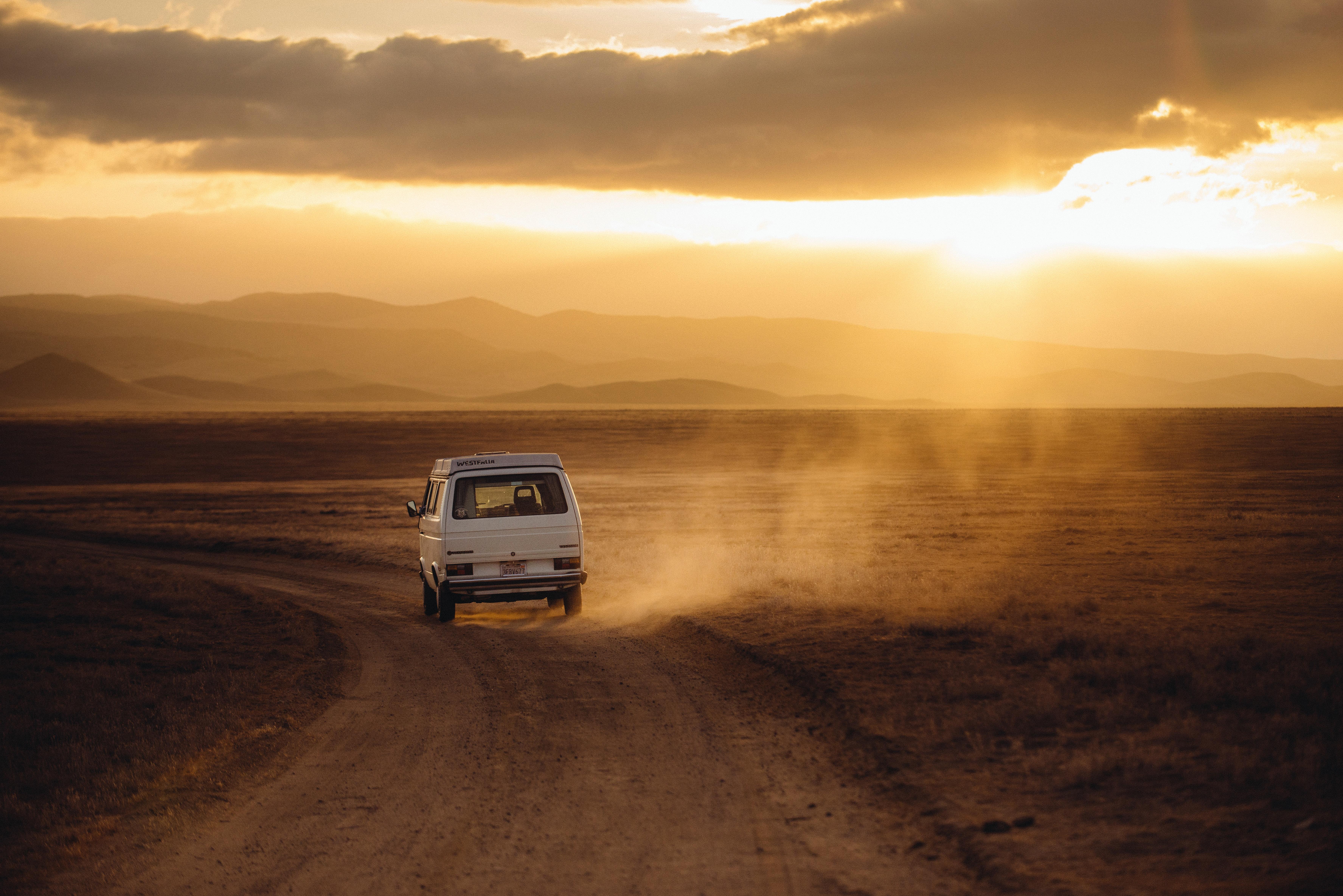 van-on-road